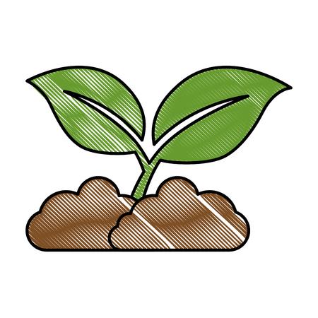 Bladeren plant geïsoleerd pictogram vectorillustratieontwerp Stockfoto - 89536740