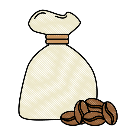 bag coffee seeds isolated icon vector illustration design Stock Photo