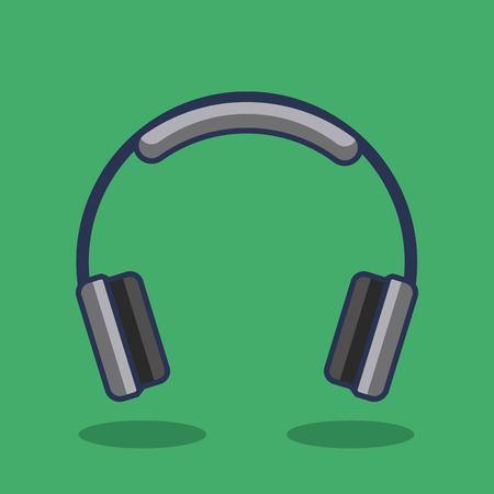 ヘッドフォンのアイコン音楽デバイス オーディオ ベクトル図