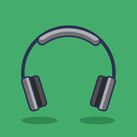Headphones icon music device audio vector illustration Иллюстрация