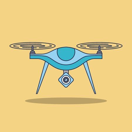 Van het de toezichtsvisie van de hommeltechnologie de lucht van het de voertuigafstandsbediening het teken vectorillustratie