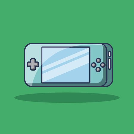 휴대용 게임 패드 장치 기술 아이콘 벡터 일러스트 레이션