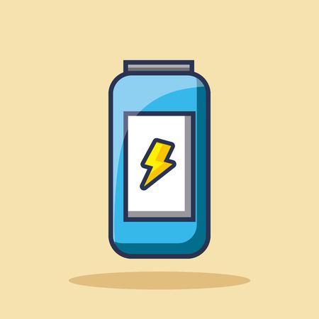energiedrank kan drinken bout pictogram vectorillustratie