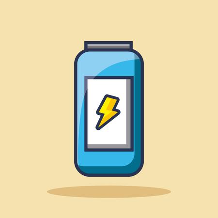energy drink can beverage bolt icon vector illustration