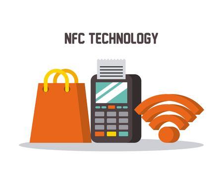 nfc 기술 데이터 폰 wifi 쇼핑 선물 가방 온라인