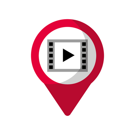 video player social media  round pointer web vector illustration 向量圖像