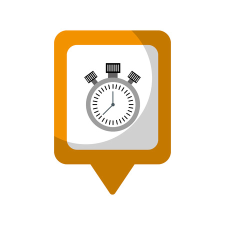 Chronometer social media square pointer web vector illustration Illusztráció