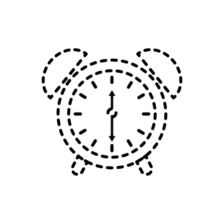 alarm clock for web and mobile application social media vector illustration 向量圖像