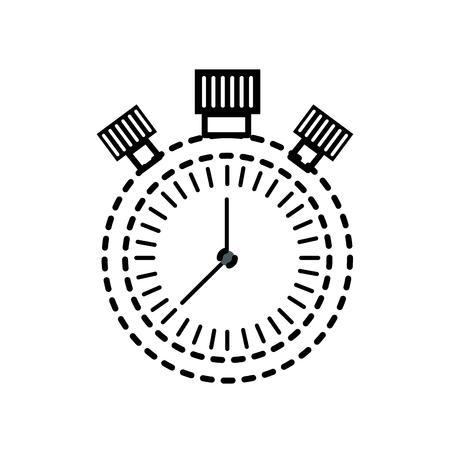 stopwatch time management control planning concept design vector illustration