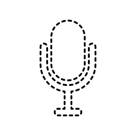 録音機器マイク技術ベクトル図  イラスト・ベクター素材
