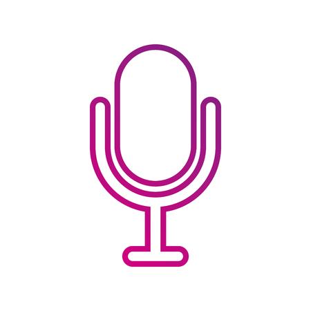 geluidsopname apparatuur microfoon technologie vectorillustratie Stock Illustratie