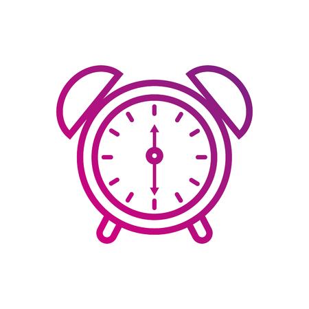 alarm clock for web and mobile application social media vector illustration 向量圖像