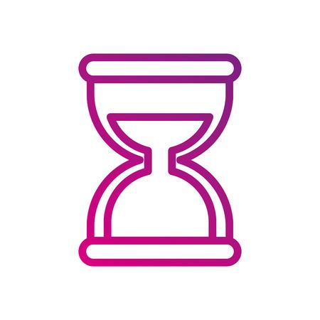 hourglass social media mobile app symbol vector illustration Çizim
