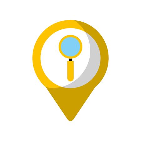 zoek sociale media om aanwijzer web vectorillustratie