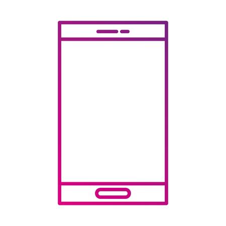 휴대 전화 장치 기술 스마트 벡터 일러스트 레이션