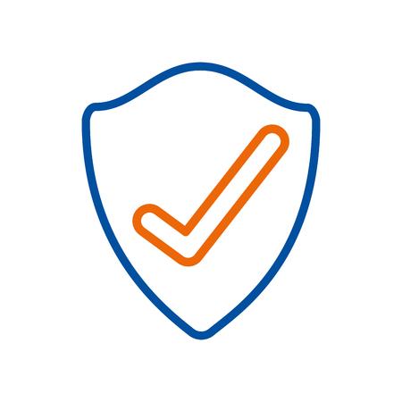 schild bescherming gegevens informatie veiligheidscontrole vectorillustratie
