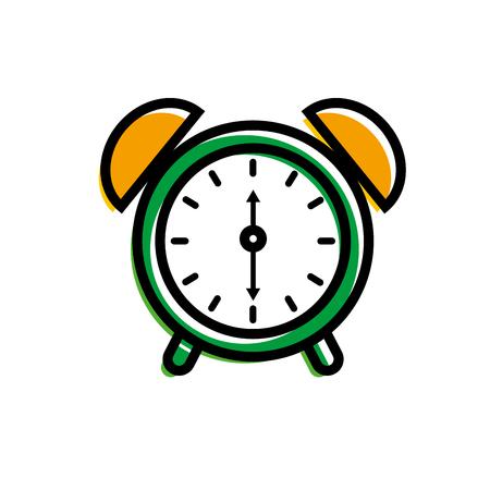 alarm clock for web and mobile application social media vector illustration Illustration