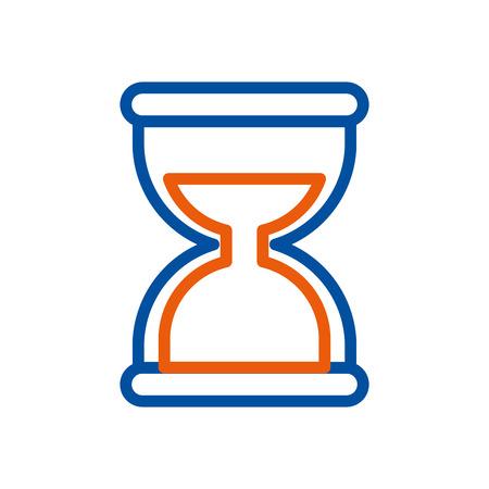 hourglass social media mobile app symbol vector illustration Illustration