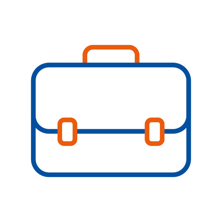 business briefcase for travelling icon modern design vector illustration Illustration
