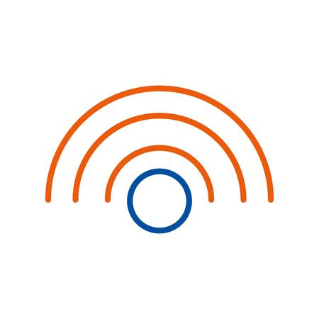 Wireless internet connection digital concept vector illustration