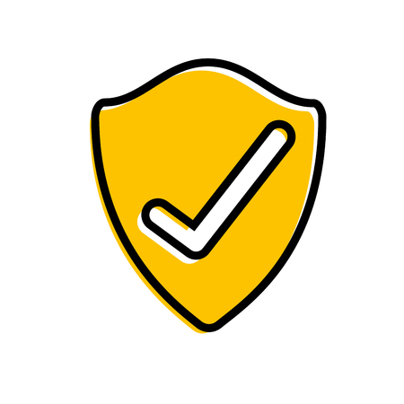 shield protection data information security check vector illustration