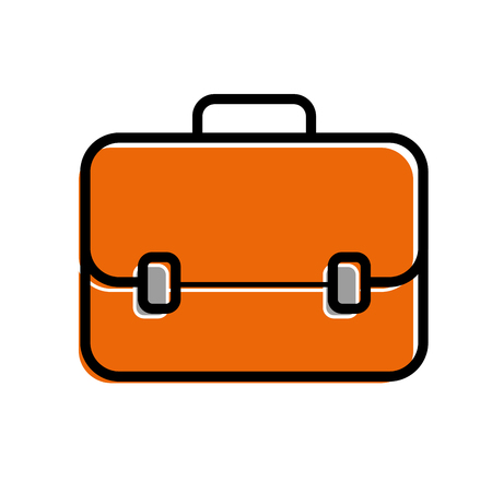Business briefcase for travelling icon modern design vector illustration Çizim