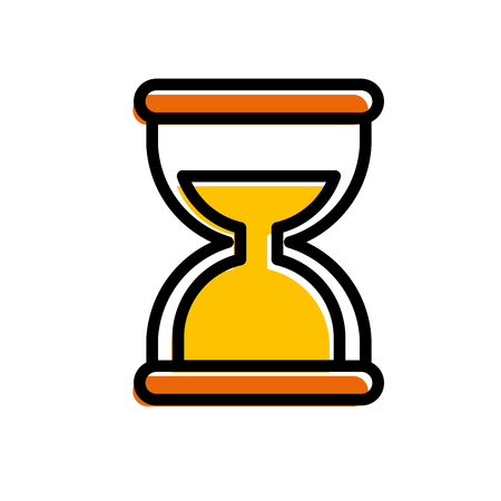 모래 시계 소셜 미디어 모바일 애플 리케이션 기호 벡터 일러스트 레이션