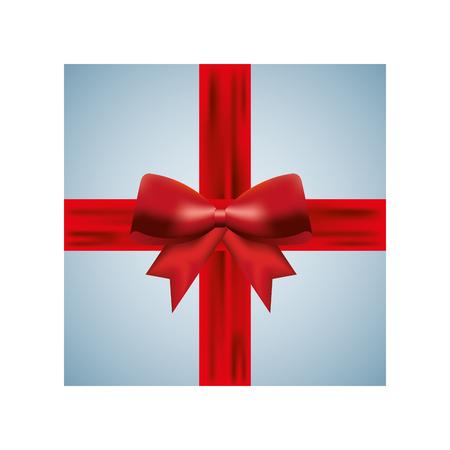 Van de de doosboog van de Kerstmisgift huidige doos verpakte de vierings vectorillustratie Stock Illustratie