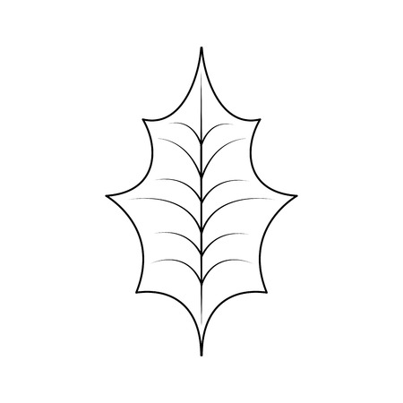 Christmas leaf holly natural decoration vector illustration Фото со стока - 89694549