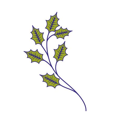 Weihnachtsbaum branche Fichte Tanne Natur Dekoration Vektor-Illustration Standard-Bild - 89694379