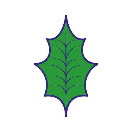 Natürliche vektorabbildung der Weihnachtsdekorationsblattstechpalme Standard-Bild - 89694383