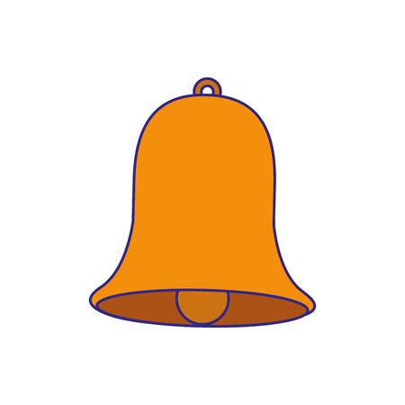 decorated bell christmas event ornament vector illustration Ilustração