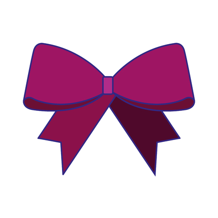 christmas bow decoration ornament design vector illustration Ilustração