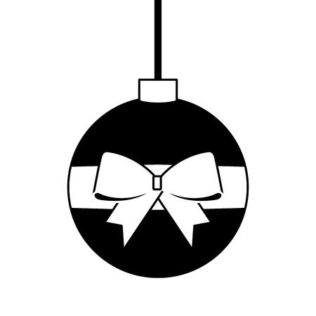 クリスマスボール包まれたリボンの弓の装飾ベクトルイラスト  イラスト・ベクター素材