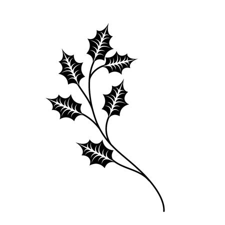 Weihnachtsbaum branche Fichte Tanne Natur Dekoration Vektor-Illustration Standard-Bild - 89702239