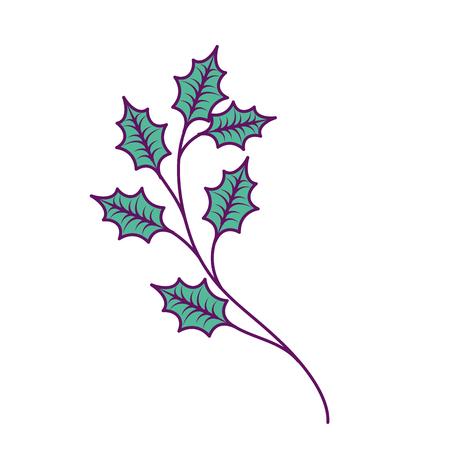 Weihnachtsbaum Zweige Fichte Natur Dekoration Vektor-Illustration Standard-Bild - 89751832