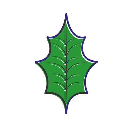 Natürliche vektorabbildung der Weihnachtsdekorationsblattstechpalme Standard-Bild - 89694470