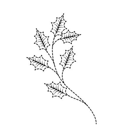 クリスマスツリー branche スプルースモミ自然装飾ベクターイラスト