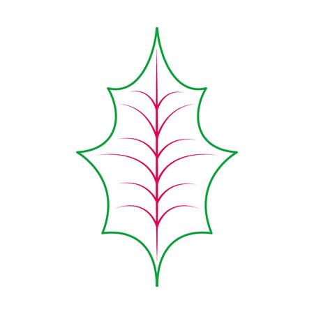 Christmas leaf holly icon.