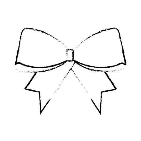 christmas bow decoration ornament design vector illustration Ilustração