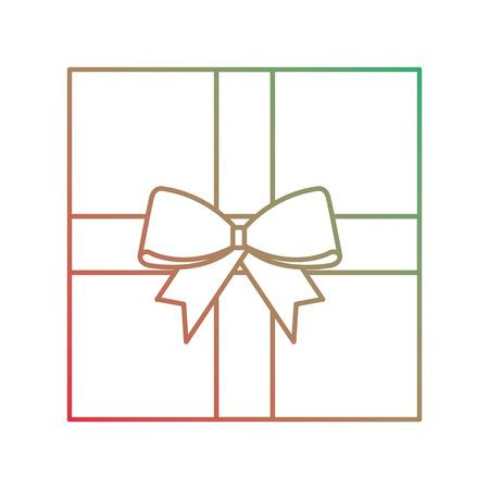 Kerst cadeau pictogram. Stock Illustratie