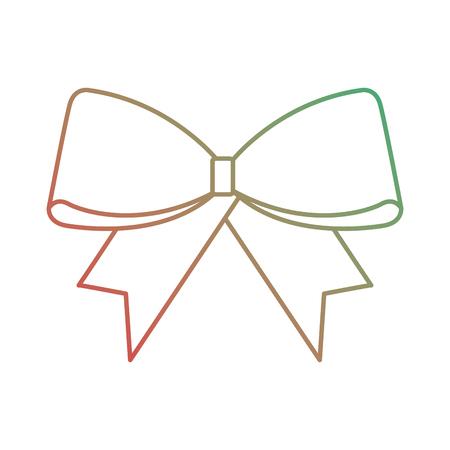 Christmas ribbon icon.