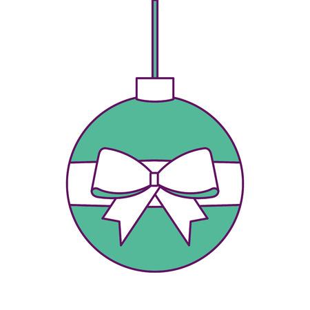 Christmas ball icon.