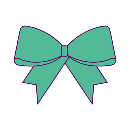 Christmas ribbon icon.