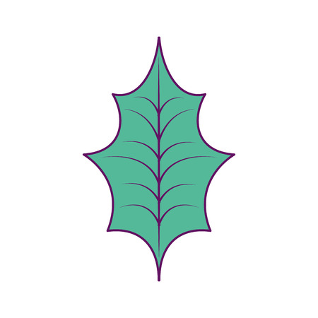 Weihnachts-Blatt-Dekoration-Symbol. Standard-Bild - 89701029