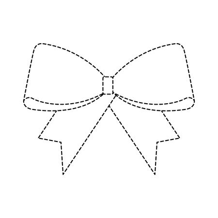Christmas ribbon decoration icon.