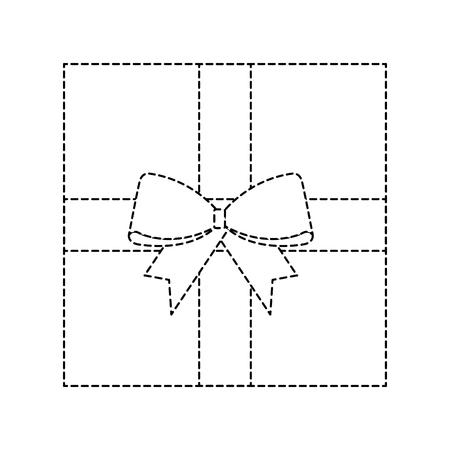 Christmas gift box  decoration icon. Stock Vector - 89701059