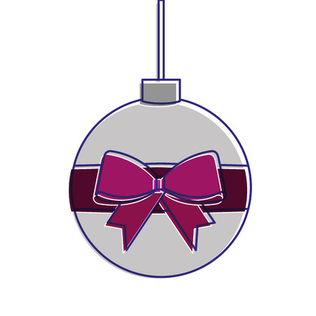Christmas ball  decoration icon. Stock Vector - 89701102