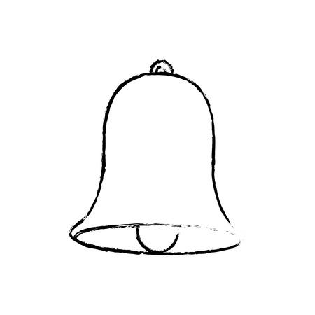 decorated bell christmas event ornament vector illustration Illusztráció