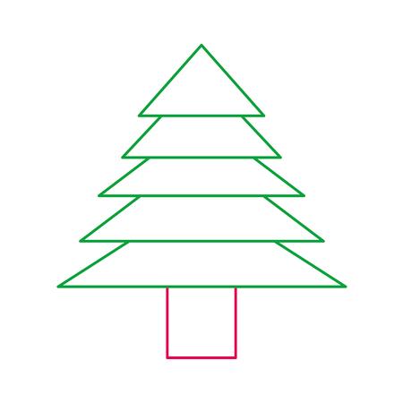 christmas tree decoration traditional holiday vector illustration
